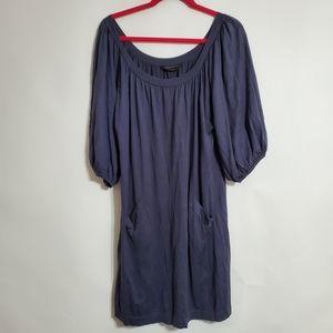 BCBGMAXAZRIA grey silk cotton dress